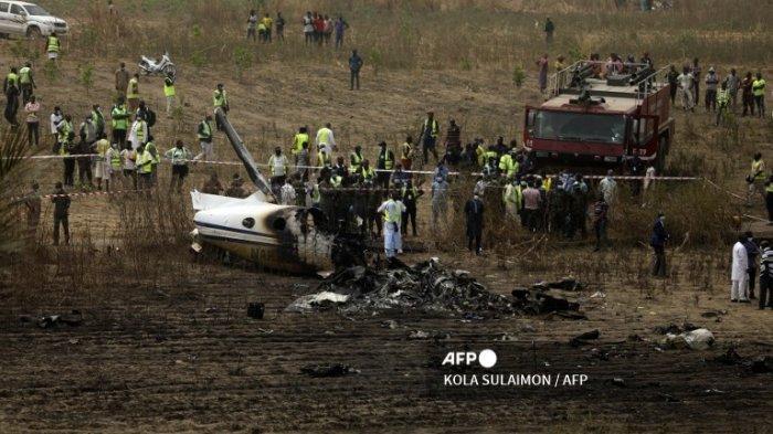 7 Orang Tewas Pesawat Militer Nigeria Jatuh di Dekat Bandara Abuja